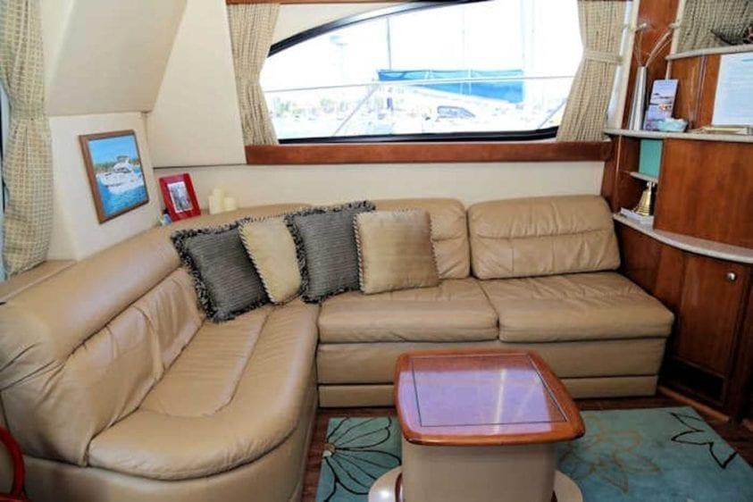 San Diego Yacht Rentals 46' Meridian Salon Couch