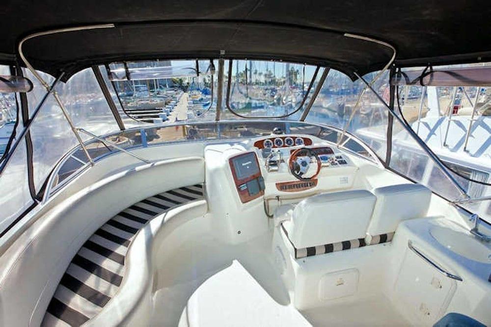 San Diego Yacht Rental 46' Meridian Upper Helm