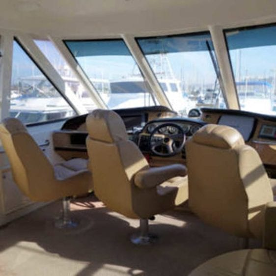 San Diego Yacht Rentals 56' Carver Helm Station