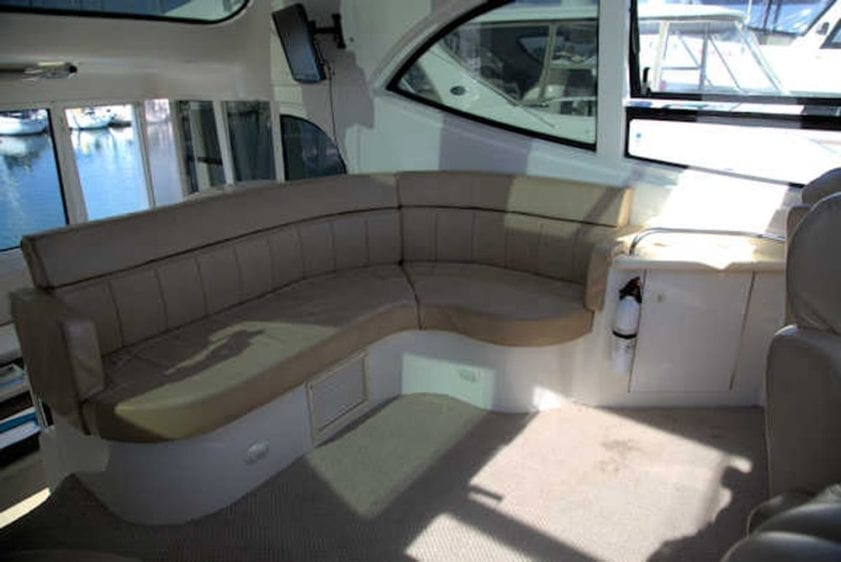 San Diego Yacht Rentals 56' Carver Helm Station Seating