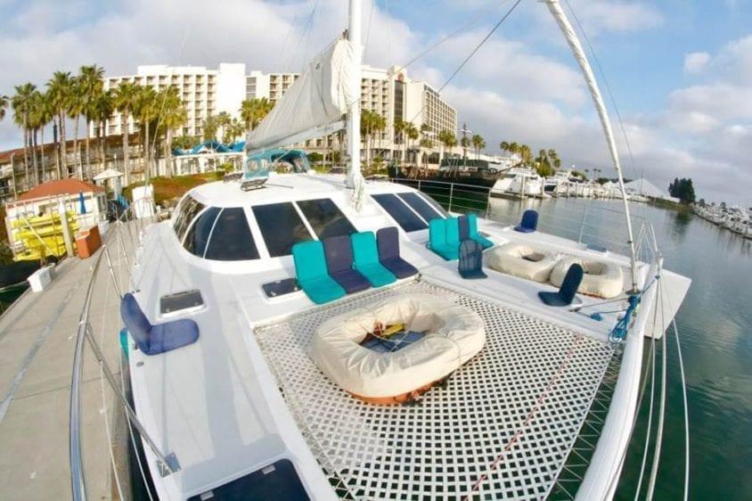 San Diego Yacht Rentals 58' Sunchaser Bow