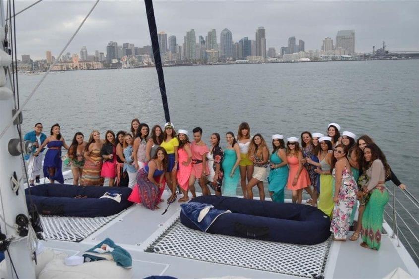 San Diego Yacht Rentals 60' Catamaran Bow