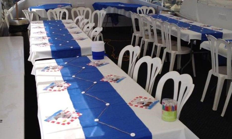 San Diego Yacht Rentals 60' Jjak Tables