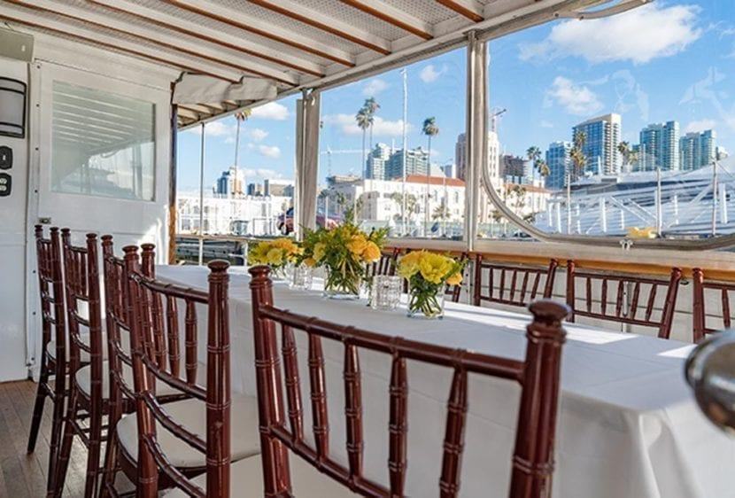 San Diego Yacht Rentals 72' Mathis Tables