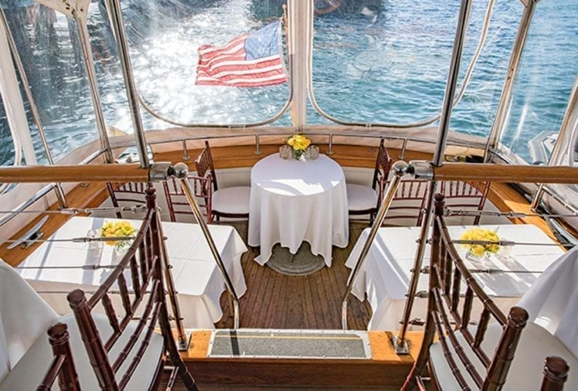 San Diego Yacht Rentals 72' Mathis Tables Set