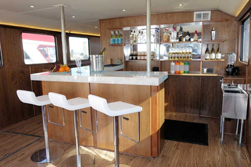 San Diego party Yacht 73' Bonaire Navigator Bar