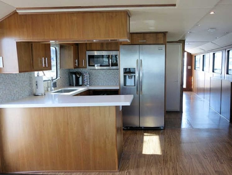 San Diego Yacht Rentals 73' Bonaire Navigator Galley