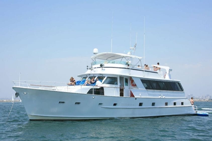 San Diego Yacht Rentals 78' Broward