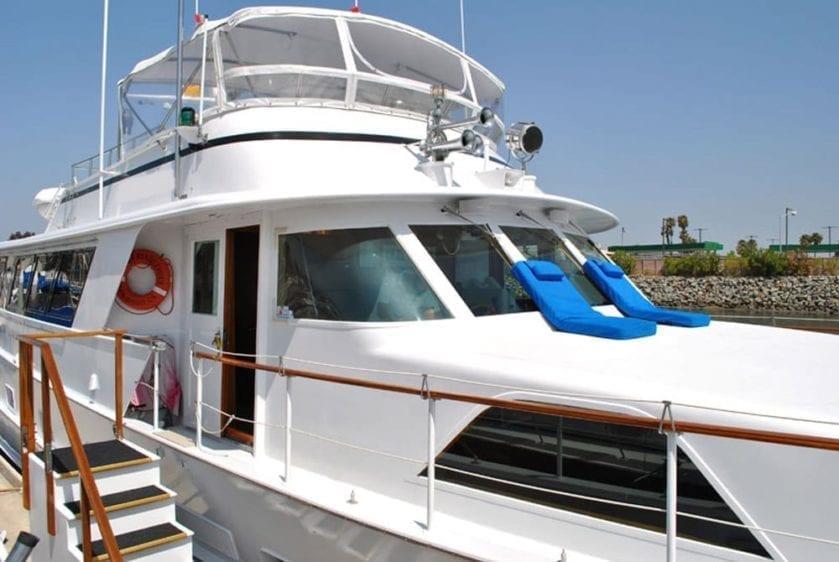 San Diego Yacht Rentals 78' Broward Boarding