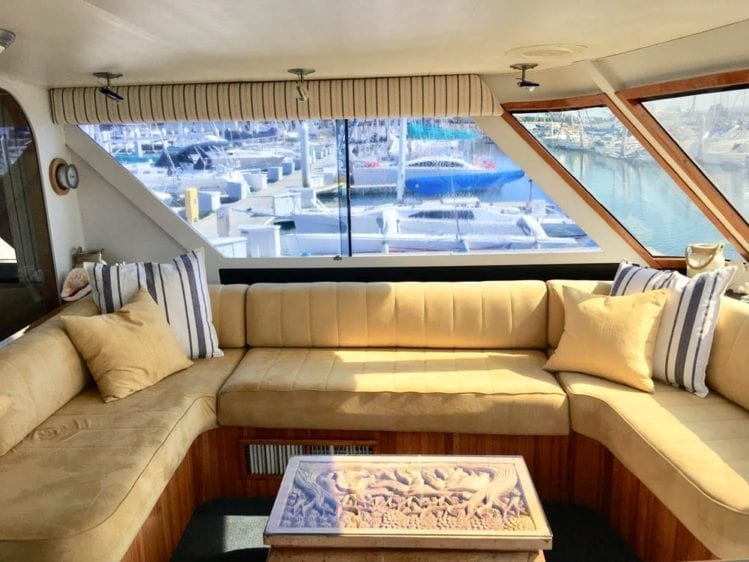 San Diego Yacht Rentals 78' Broward Helm Seating