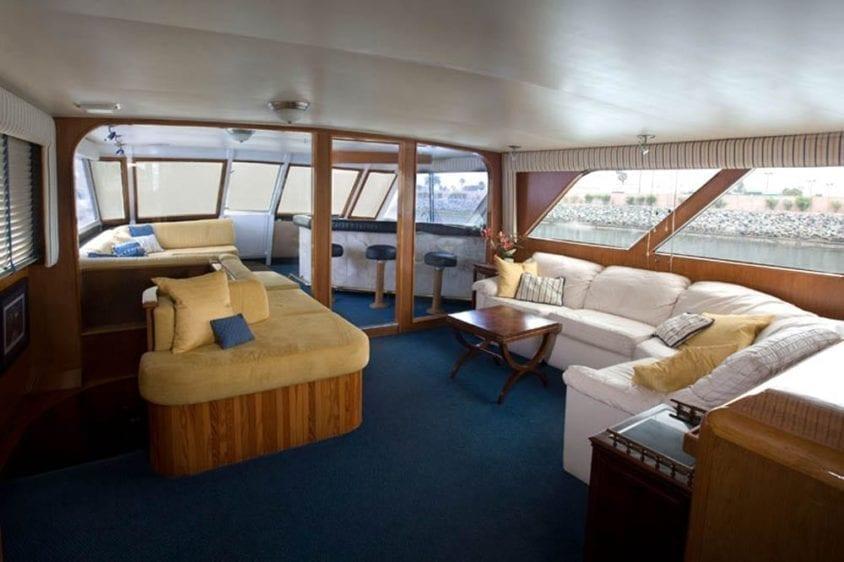San Diego Yacht Rentals 78' Broward Salon 3