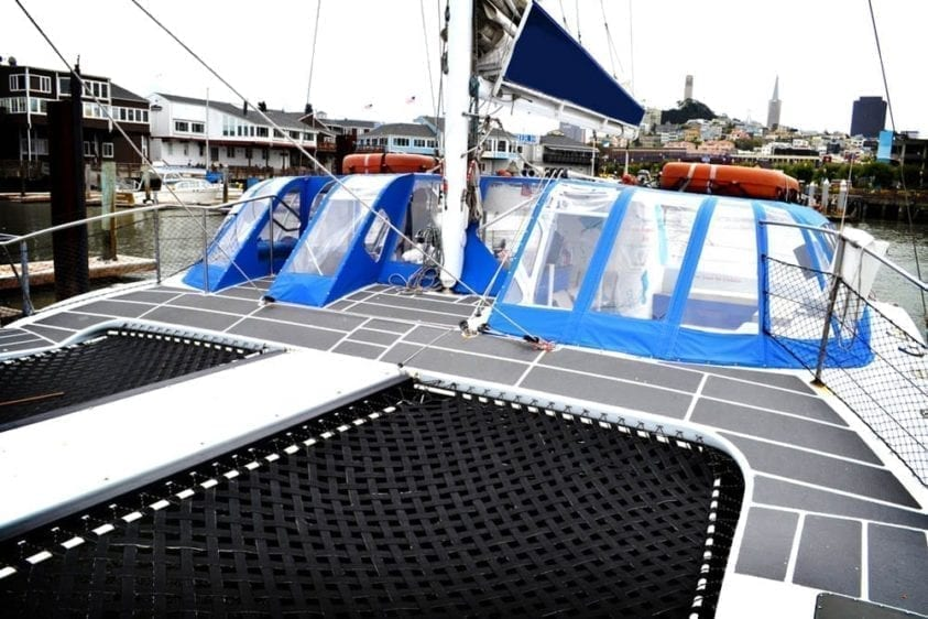 San Francisco Yacht Rentals 55' Adventure Cat Bow