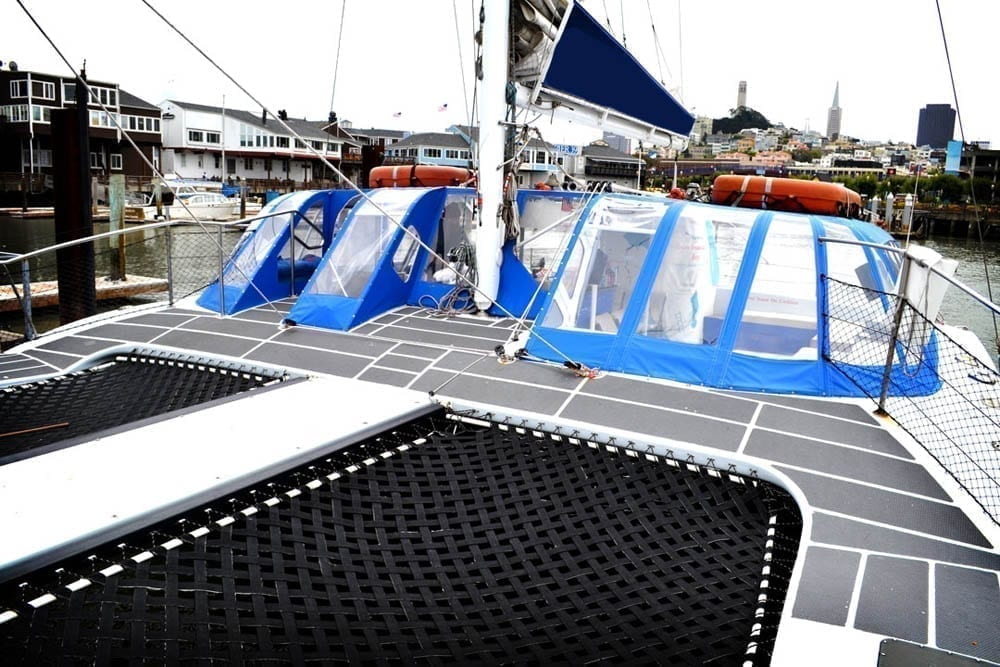 San Francisco Catamaran Charter 55' Adventure Cat Bow