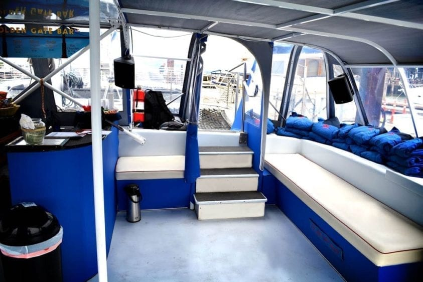 San Francisco Yacht Rentals 55' Adventure Cat Interior