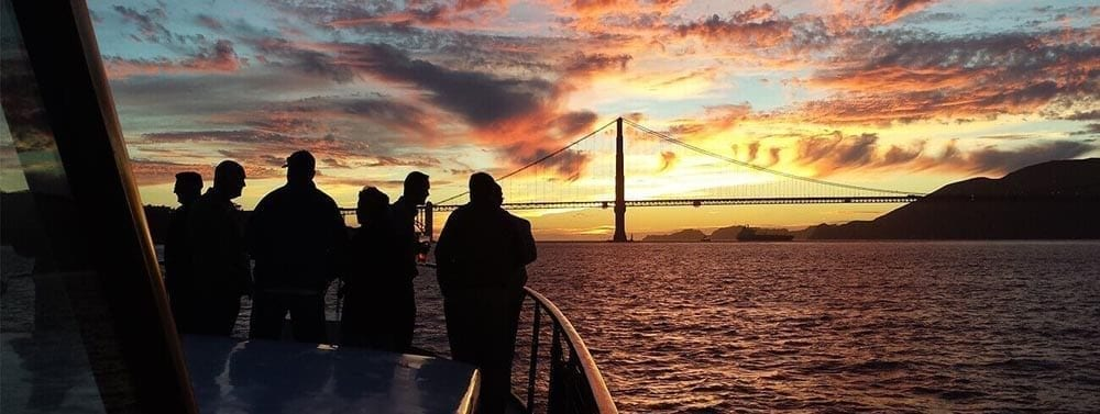 San Francisco Yacht Rentals 57' Stephens Bow Sunset