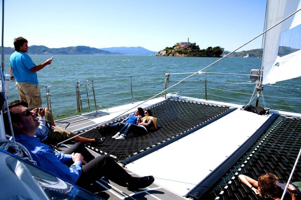 San-Francisco-Yacht-Rentals-65-Catamaran-Bow-Lounge