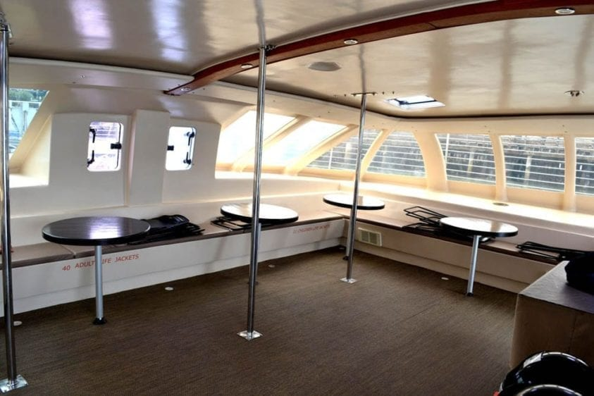 San Francisco Yacht Rentals 65' Catamaran Interior