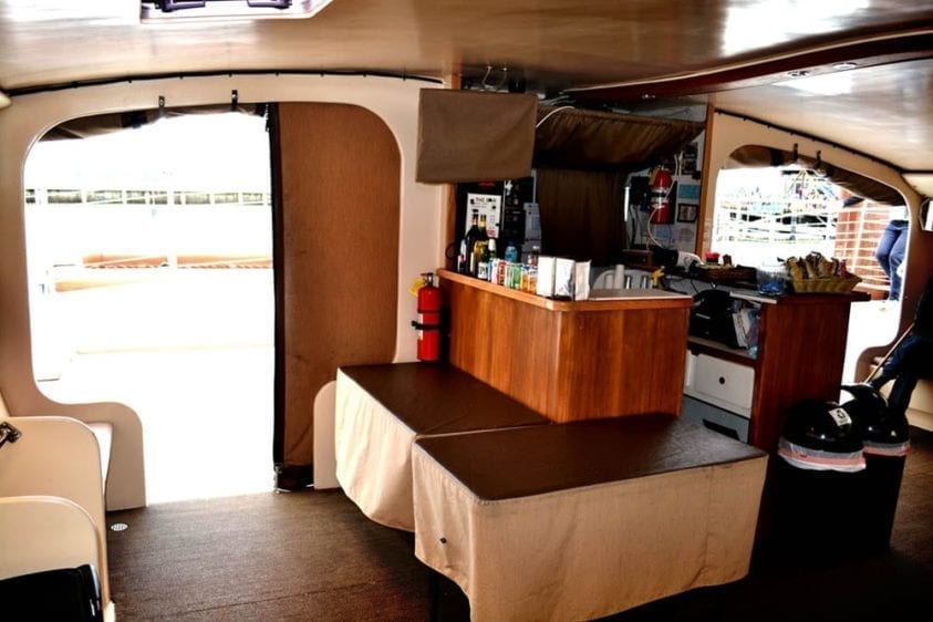 San Francisco Yacht Rentals 65' Catamaran Interior Bar