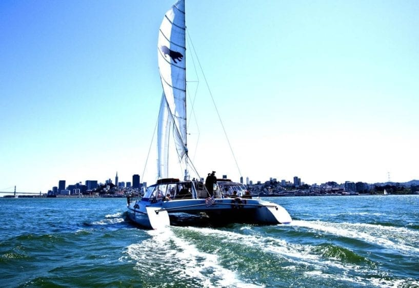 San Francisco Yacht Rentals 65' Catamaran Sailing