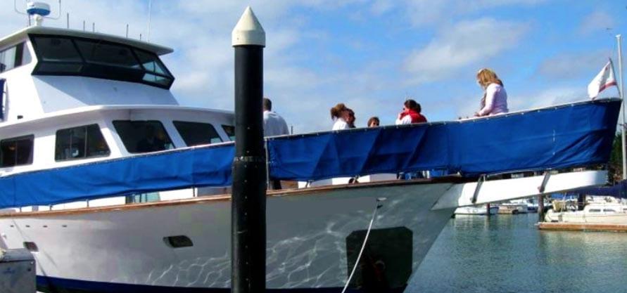 San Francisco Yacht Rentals 75' Voyager Dockside