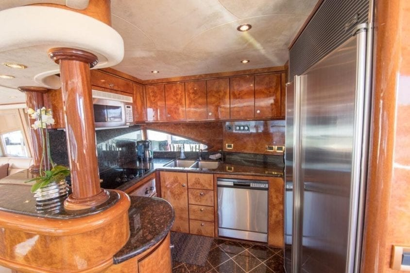 San Francisco Yacht Rentals 80' Monte Fino Galley