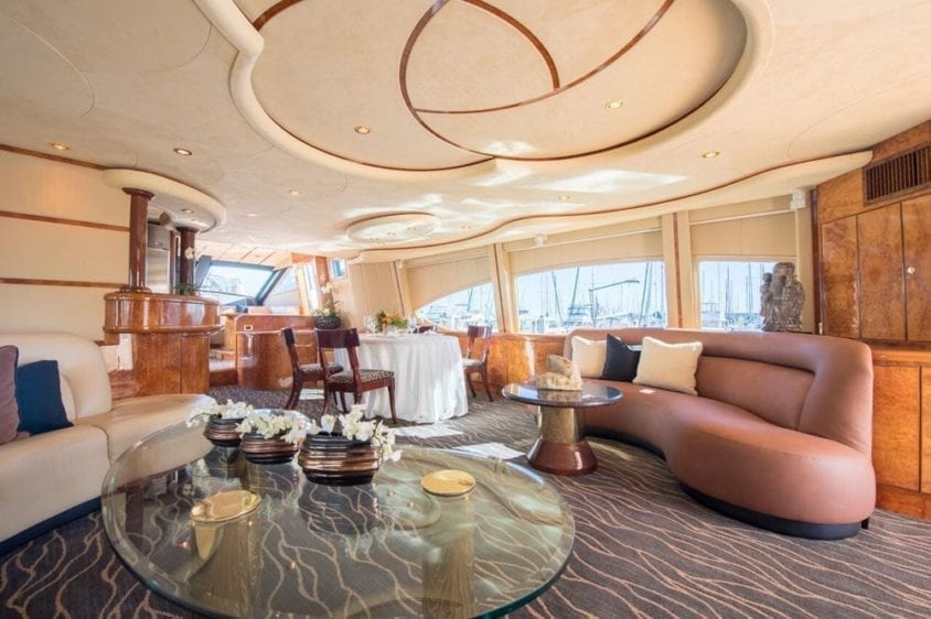 San Francisco Yacht Rentals 80' Monte Fino Salon 2