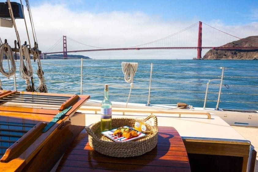 San Francisco Yacht Rentals 80' Schooner Views