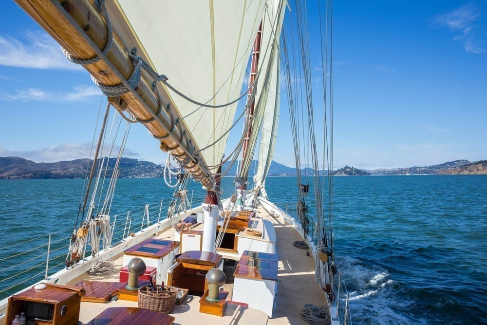 San Francisco sailing charters 80' Schooner
