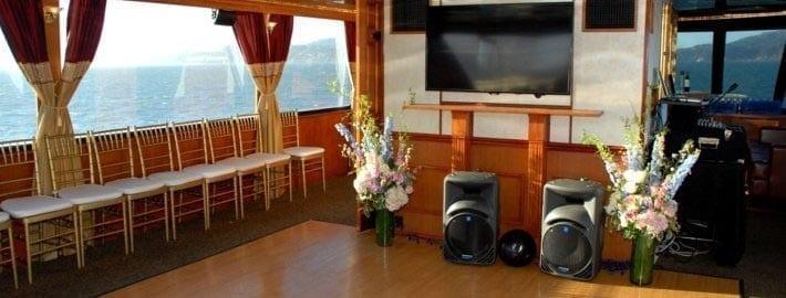 San Francisco Yacht Rentals 90' Skipperliner Dance Floor