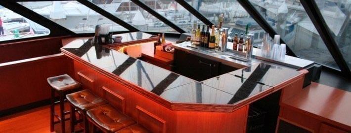 San Francisco Yacht Rentals 90' Skipperliner Forward Bar