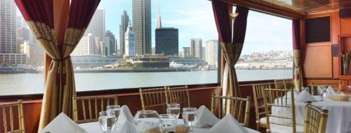 San Francisco Yacht Rentals 90' Skipperliner Table Seating