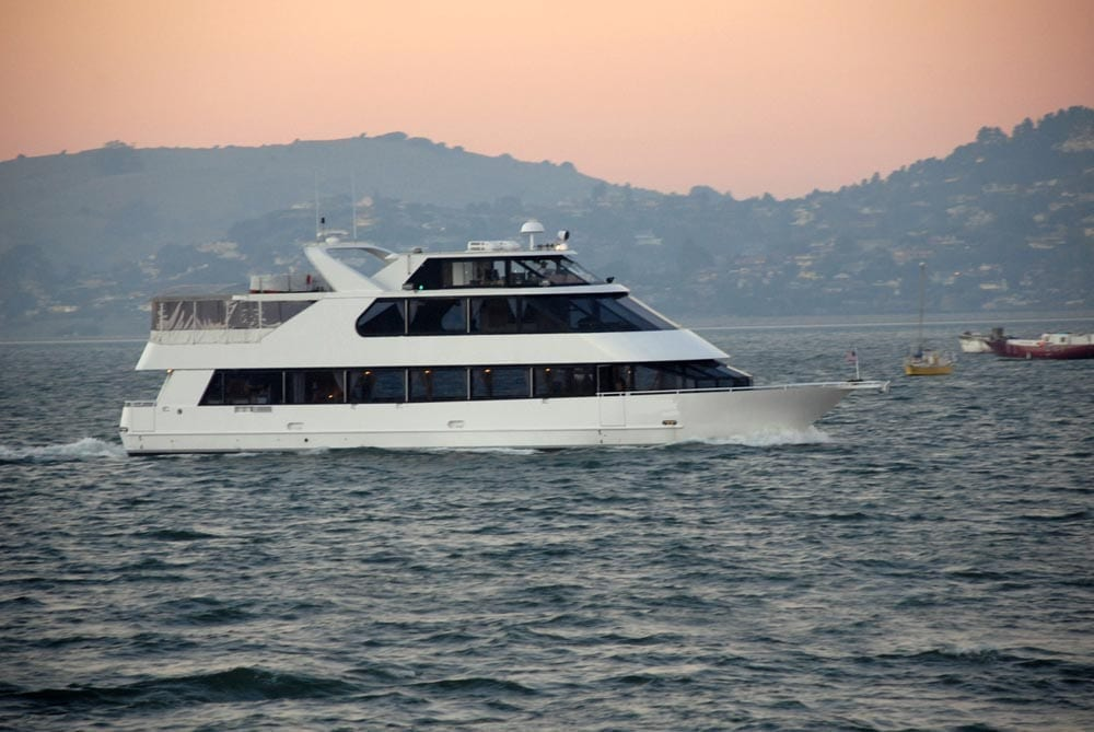 San Francisco party Yacht Rental 90' Skipperliner