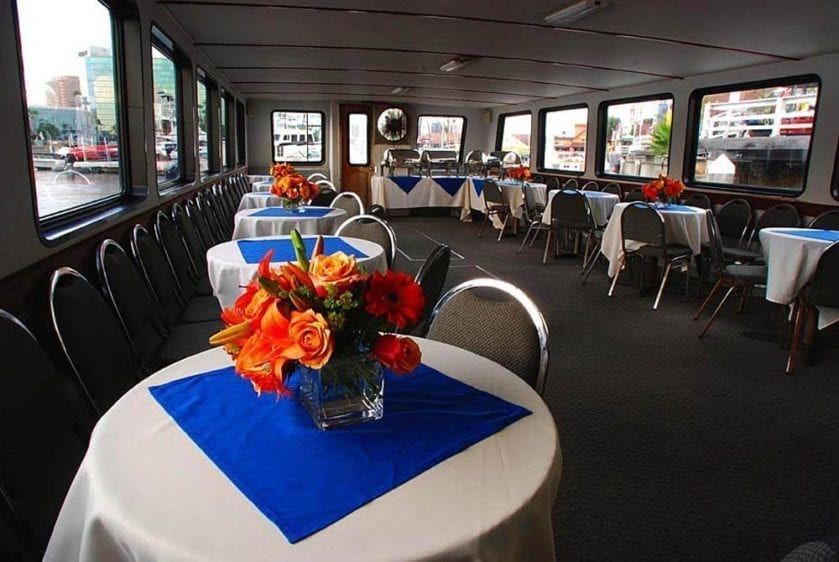San Pedro Yacht Rentals 65' Westport Tables Set