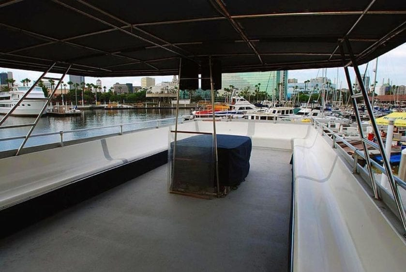 San Pedro Yacht Rentals 65' Westport Upper Deck 2