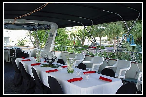 fort lauderdale yacht charter upper deck area