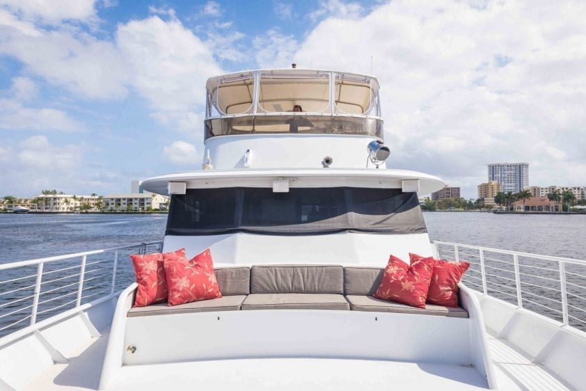 ft lauderdale yacht rental bow areas
