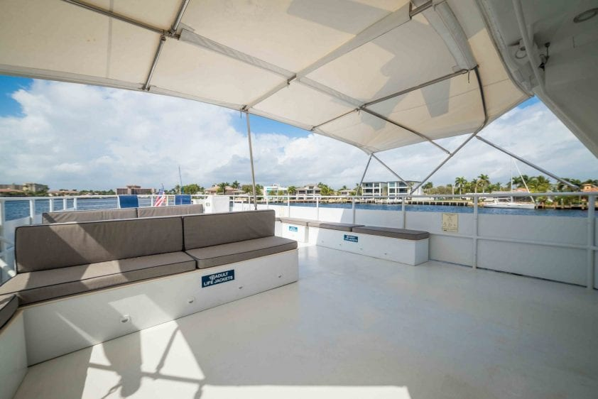 ft lauderdale yacht rental underway deck area