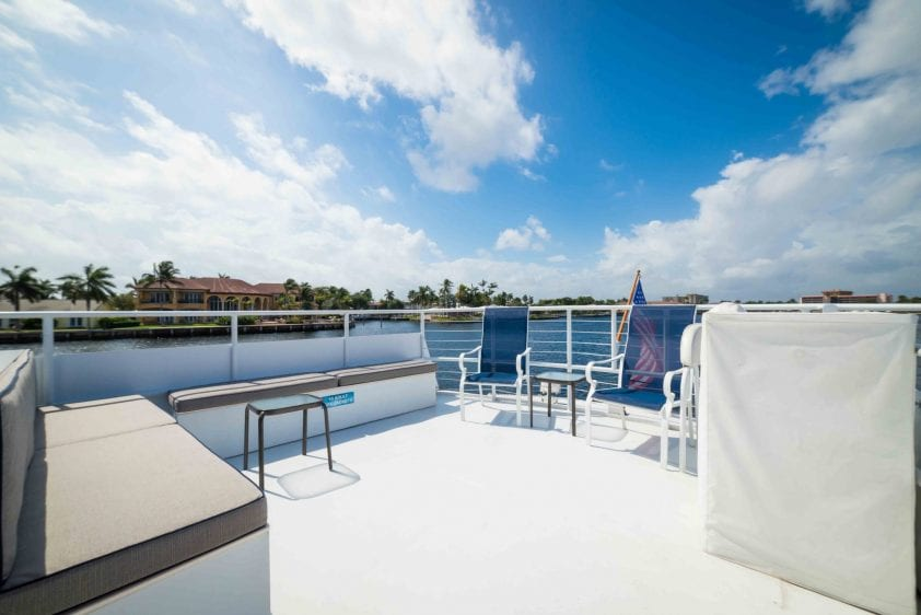 ft lauderdale yacht rental underway upper deck