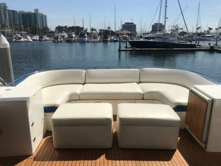 los angeles yacht rental aft deck
