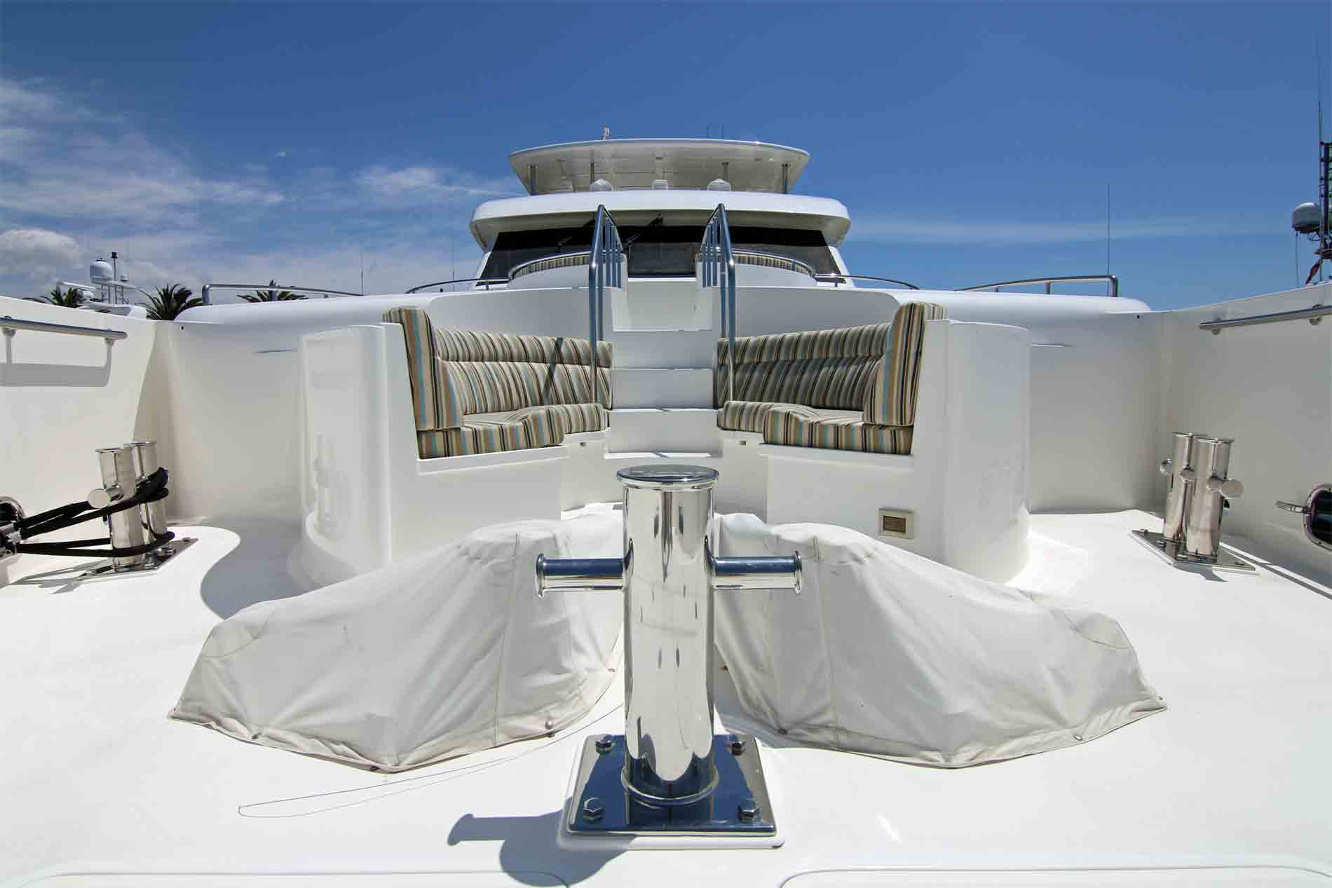 125′ Luxury Liner Super Yacht Bow Lower