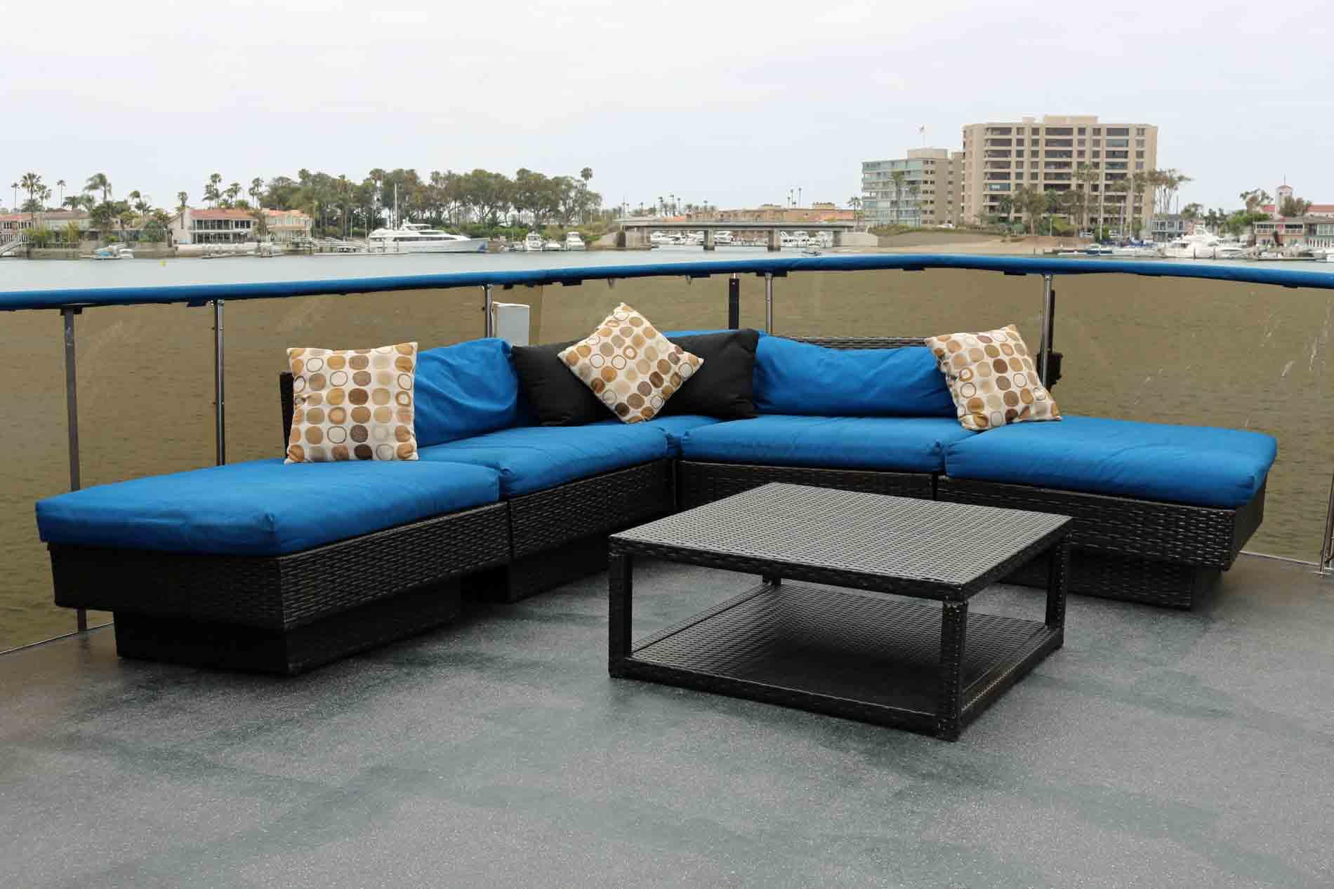 newport beach party yacht deck lounge