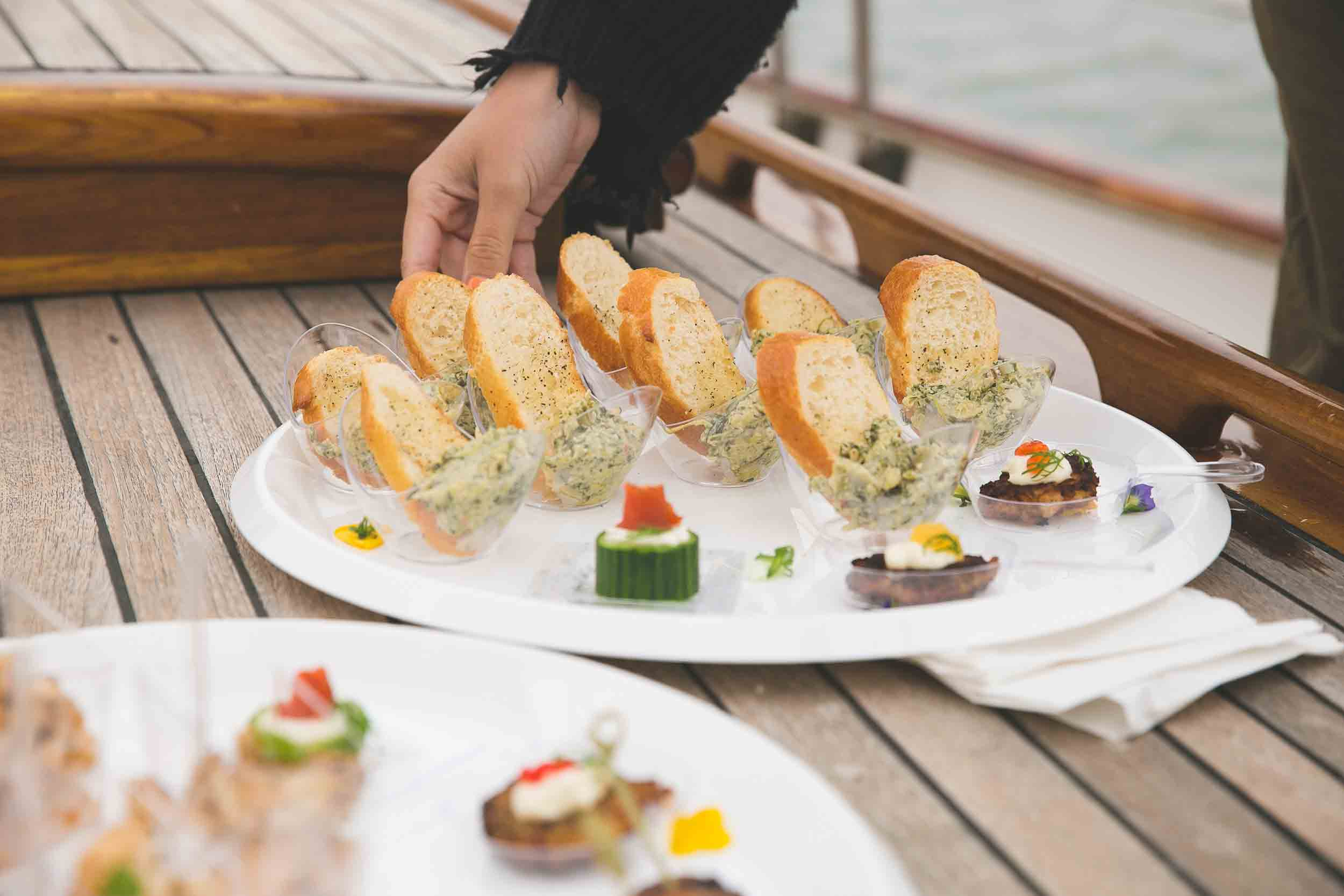 Yacht Catering Assorted Wraps Lunch Private Chef
