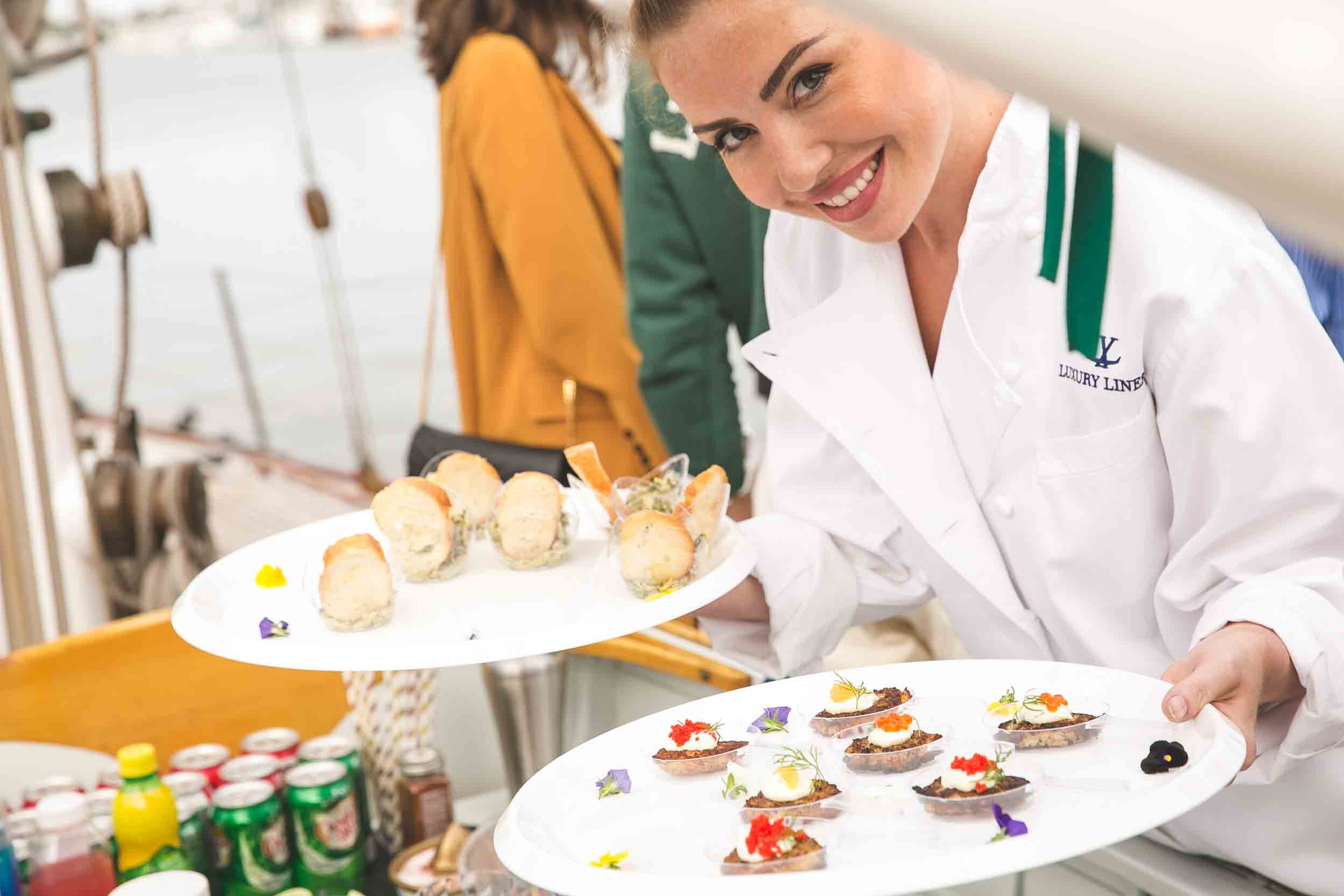 Yacht Catering Passed Appetizers