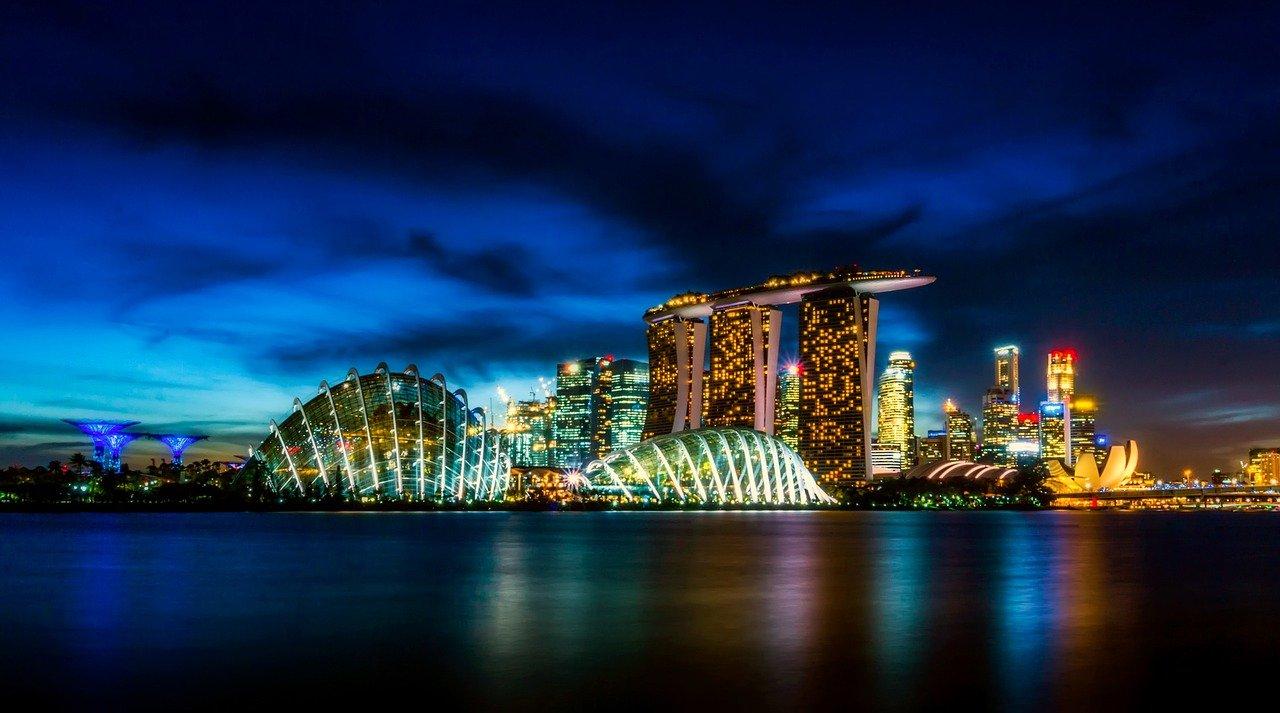 singapore downtown landscape